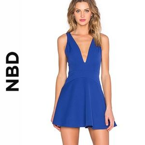 NBD Revolve Cobalt Ride or Die Skater Mini Dress